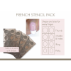 Stencil French Circle (pack of 4)